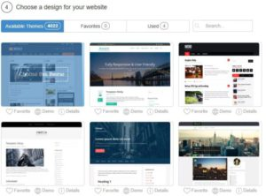 Choose A Design - How To Build A Free Website In 30 Seconds