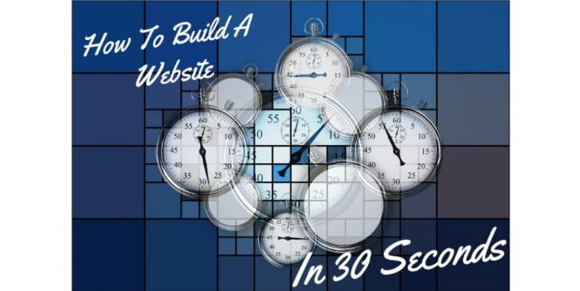How To Build A Free Website In 30 Seconds