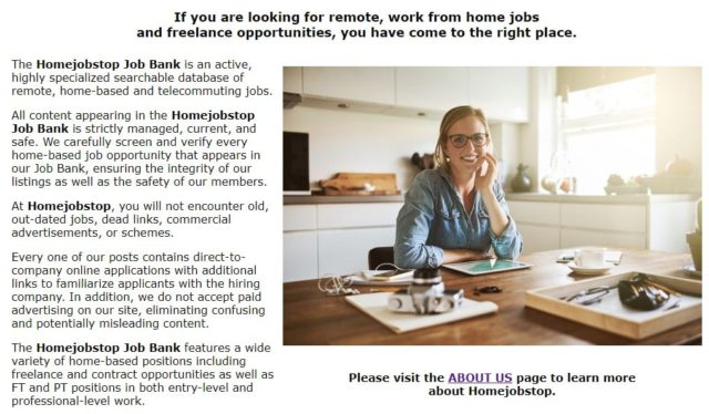 Work At Home With Home Job Stop